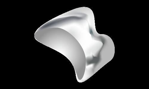 金属(銀色)の被せ物(臼歯)